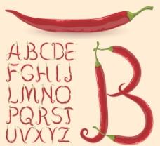 辣椒字母图片