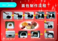 面包制作流程图片