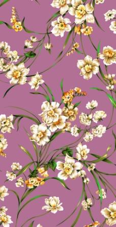 硅藻泥美女花纹_壁纸墙画