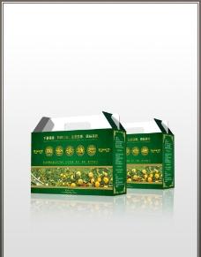 柑桔特产纸箱设计图片
