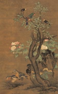 秋景珍禽图图片