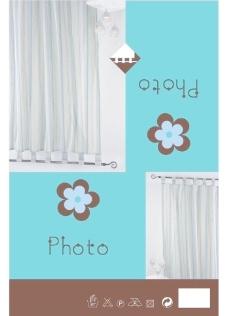 帘子纸卡包装图片