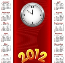2012龙年日历模板图片