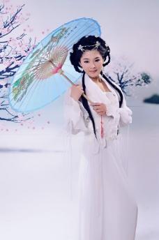 花折伞 冬天图片