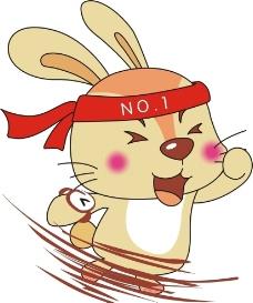 赛跑兔子图片