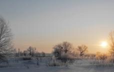 雪地美景图片