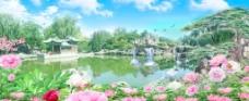 风景画设计图图片