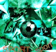动感幻彩足球背景图片