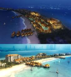 海边酒店建筑模型图片