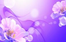 紫色梦幻移门图案图片