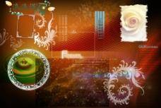 花紋花邊素材圖片