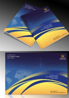 蓝色科技画册封面设计模板