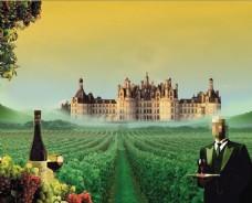 葡萄园酒庄宣传广告设计