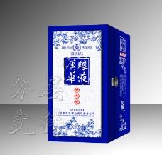 白酒裱盒包装设计(展开图)图片