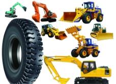 挖掘机 装载机 轮胎图片