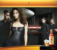 外国洋酒广告 素材图片