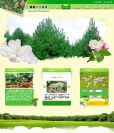 农林业网页模板图片