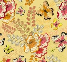 古典花纹蝴蝶背景图片