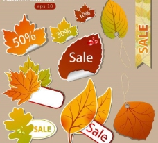 秋季销售标签贴纸图片
