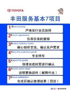 丰田服务项目标语图片