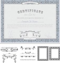 欧式花纹 现金券图片