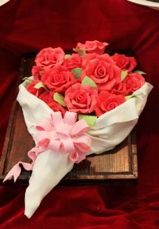 鲜花造型的蛋糕图片