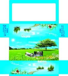 纸抽包装图片