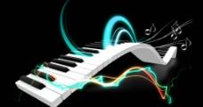炫彩钢琴素材图片