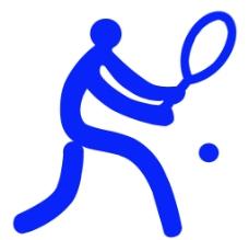 体育运动项目标识 网球图片
