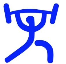 体育运动项目标识 举重图片