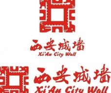 西安城墙logo图片