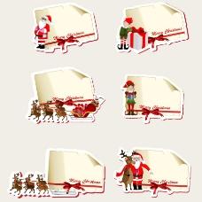 圣诞标签贴纸矢量图片