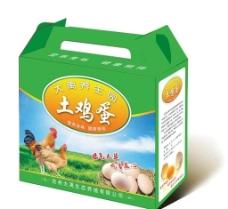 鸡蛋包装箱(展开图)图片
