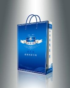 蓝色梦手提袋图片