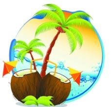 椰子树的图标图片