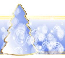 梦幻圣诞树矢量图片