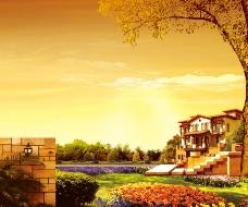 地产花园风景素材图片