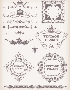 欧式花纹边框 古典花纹边框图片