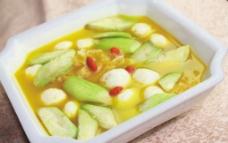 白果丝瓜烩鱼丸图片