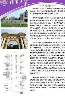 清华大学招生海报图片