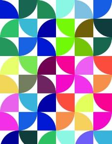 五彩的几何图型图片