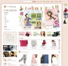 韩国时尚服饰个性网店网页模板图片