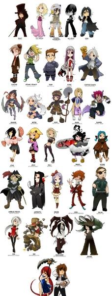 游戏中的卡通人物图片