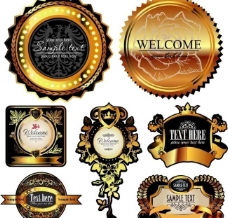 欧式花纹标签 (含ai eps)图片