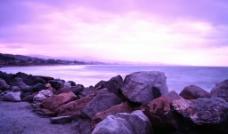 碎石海滩图片