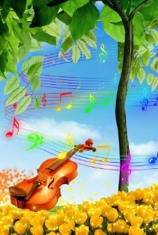 音乐旋律海报图片