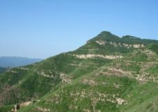 韩城蓝天青山高山图片