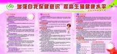 女性保健宣传展板图片