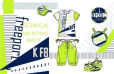 男童服装款式设计手稿图片