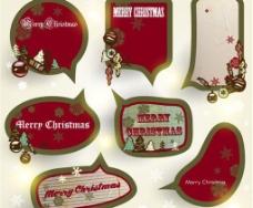 圣诞节标签贴纸图片